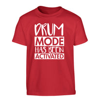 Drum mode activated Children's red Tshirt 12-14 Years