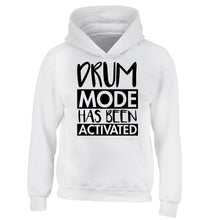 Drum mode activated children's white hoodie 12-14 Years