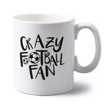Crazy football fan left handed white ceramic mug