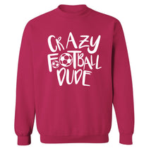 Crazy football dude Adult's unisexpink Sweater 2XL