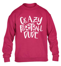 Crazy football dude children's pink sweater 12-14 Years