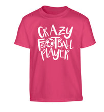 Crazy football player Children's pink Tshirt 12-14 Years