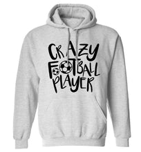 Crazy football player adults unisexgrey hoodie 2XL