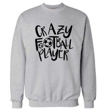 Crazy football player Adult's unisexgrey Sweater 2XL