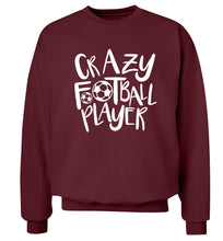 Crazy football player Adult's unisexmaroon Sweater 2XL