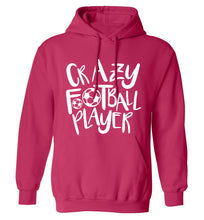 Crazy football player adults unisexpink hoodie 2XL