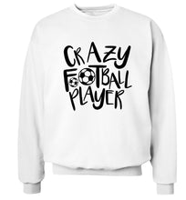 Crazy football player Adult's unisexwhite Sweater 2XL