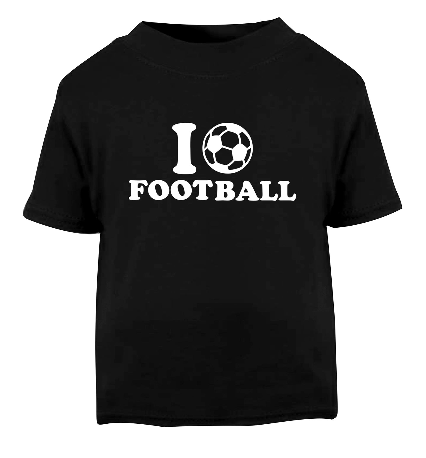 I love football Black Baby Toddler Tshirt 2 years