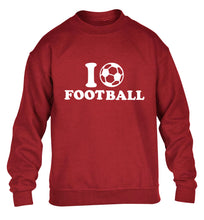 I love football children's grey sweater 12-14 Years