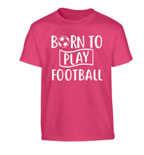 Born to play football Children's pink Tshirt 12-14 Years