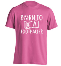 Born to be a footballer adults unisexpink Tshirt 2XL