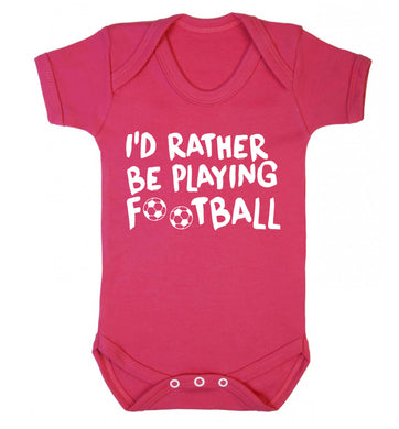 I'd rather be playing football Baby Vest dark pink 18-24 months