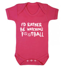 I'd rather be watching football Baby Vest dark pink 18-24 months