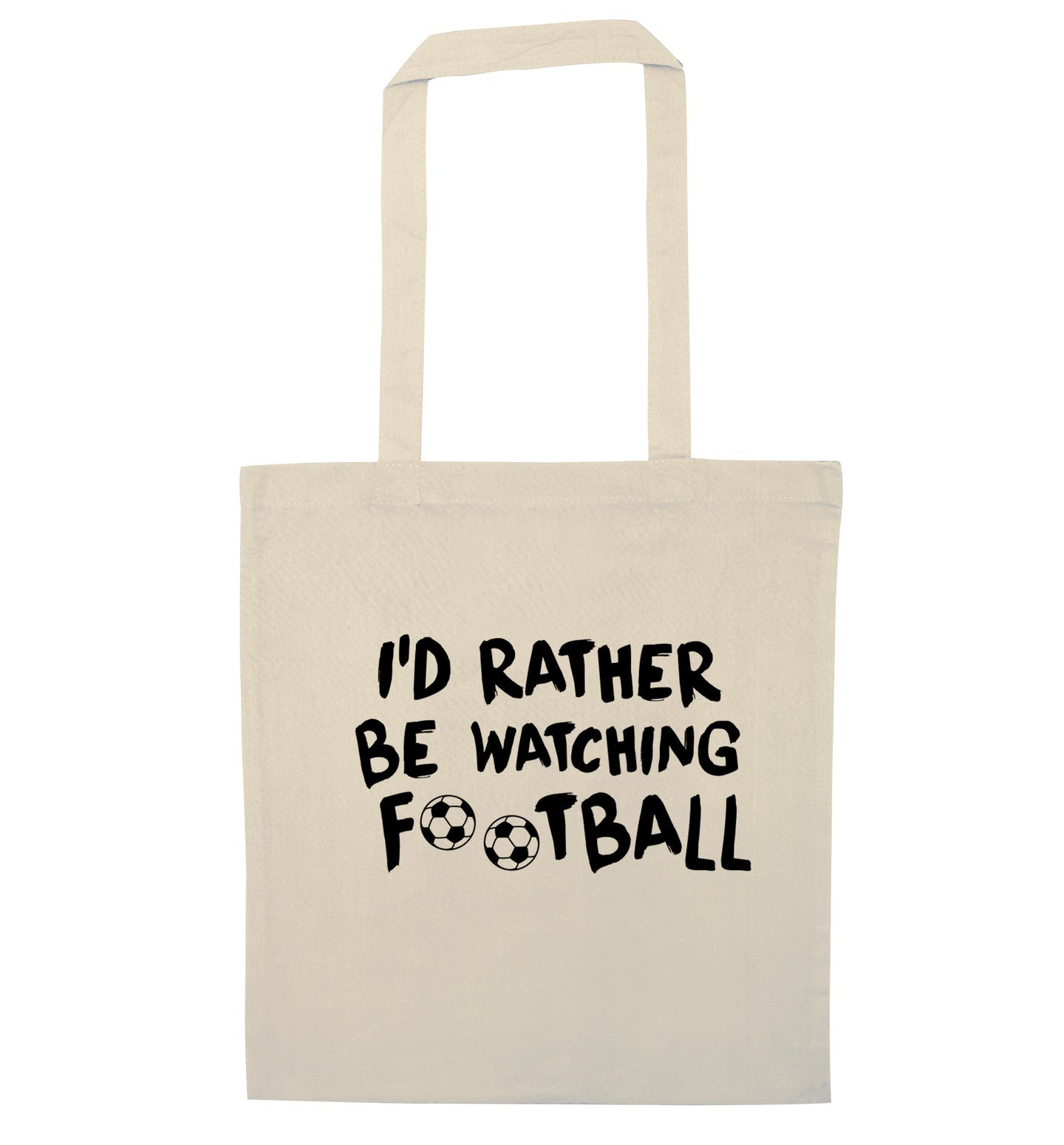 I'd rather be watching football natural tote bag