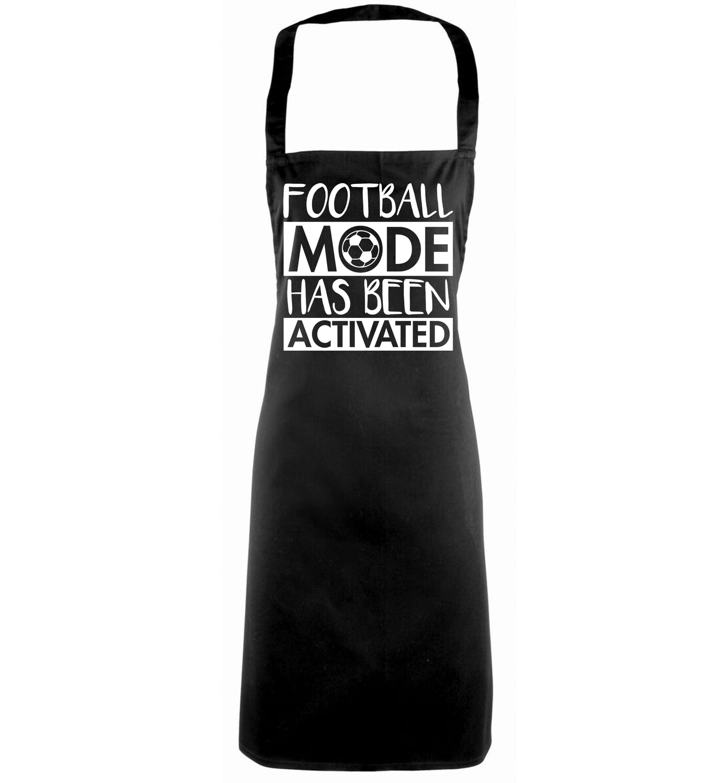 Football mode has been activated black apron