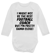I might not be the best football coach but I'm pretty close! Baby Vest long sleeved white 6-12 months