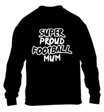 Super proud football mum children's black sweater 12-14 Years