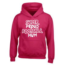 Super proud football mum children's pink hoodie 12-14 Years