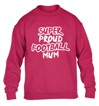 Super proud football mum children's pink sweater 12-14 Years