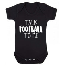 Talk football to me Baby Vest black 18-24 months