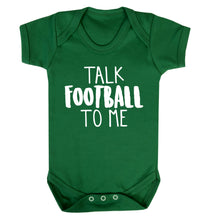 Talk football to me Baby Vest green 18-24 months