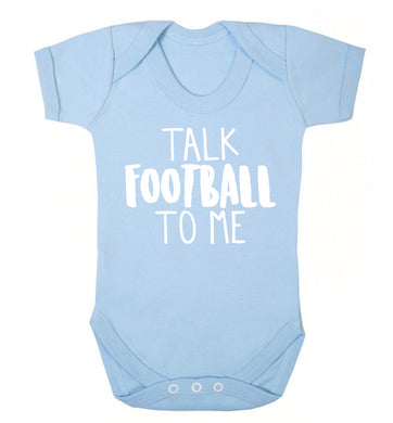Talk football to me Baby Vest pale blue 18-24 months
