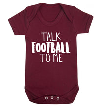 Talk football to me Baby Vest maroon 18-24 months