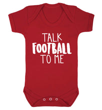 Talk football to me Baby Vest red 18-24 months