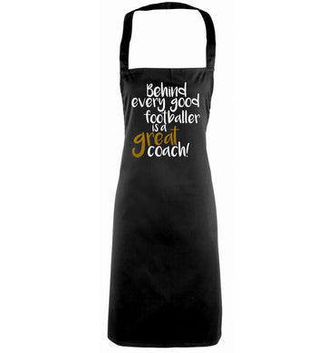 Behind every good footballer is a great coach! black apron