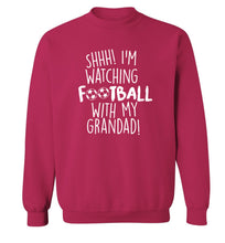 Shhh I'm watching football with my grandad Adult's unisexpink Sweater 2XL