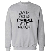 Shhh I'm watching football with my grandson Adult's unisexgrey Sweater 2XL