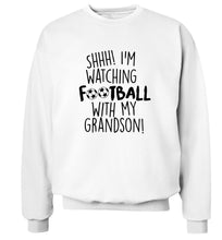 Shhh I'm watching football with my grandson Adult's unisexwhite Sweater 2XL