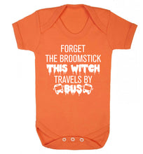 Forget the broomstick this witch travels by bus Baby Vest orange 18-24 months
