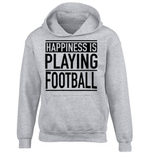 Happiness is playing football children's grey hoodie 12-14 Years