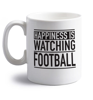 Super proud football dad right handed white ceramic mug