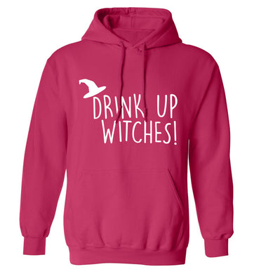Drink up witches adults unisex pink hoodie 2XL