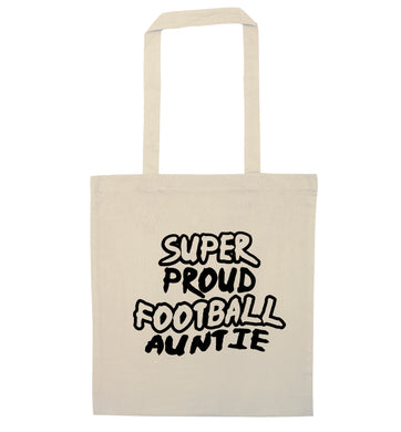 Super proud football auntie natural tote bag