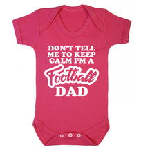 Don't tell me to keep calm I'm a football grandad Baby Vest dark pink 18-24 months