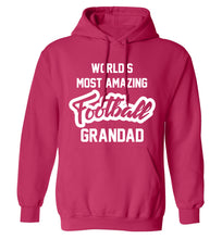 Worlds most amazing football grandad adults unisexpink hoodie 2XL