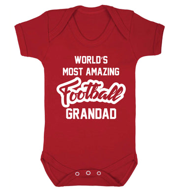 Worlds most amazing football grandad Baby Vest red 18-24 months