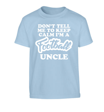 Worlds most amazing football uncle Children's light blue Tshirt 12-14 Years