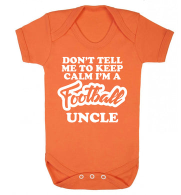Worlds most amazing football uncle Baby Vest orange 18-24 months