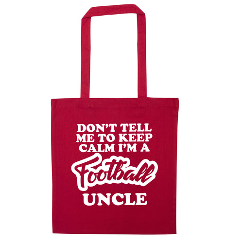 Worlds most amazing football uncle red tote bag