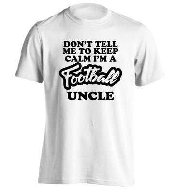Worlds most amazing football uncle adults unisexwhite Tshirt 2XL