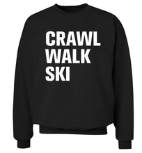 Crawl walk ski Adult's unisexblack Sweater 2XL