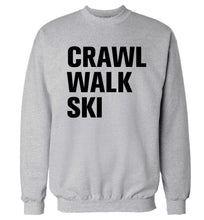 Crawl walk ski Adult's unisexgrey Sweater 2XL