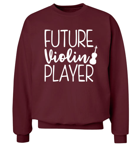 Future Violin Player Adult's unisex maroon Sweater 2XL
