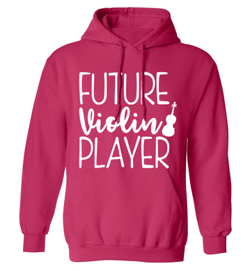 Future Violin Player adults unisex pink hoodie 2XL