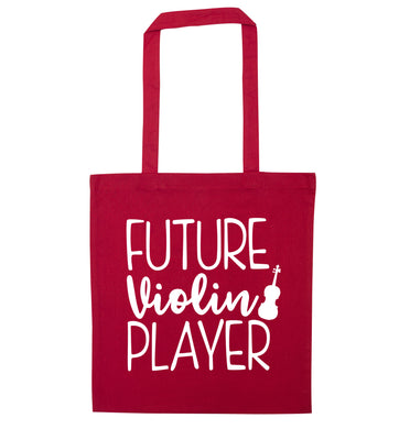 Future Violin Player red tote bag