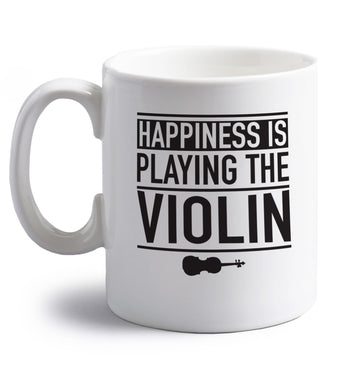 Happiness is playing the violin right handed white ceramic mug